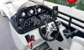 2017 22' Sport Pontoon Rental Boat Suzuki 140 - 11