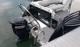 2017 22' Sport Pontoon Rental Boat Suzuki 140 - 13