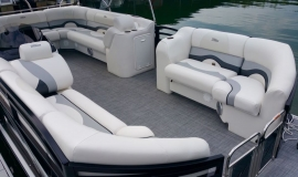 2017 22' Sport Pontoon Rental Boat Suzuki 140 - 4