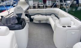 2017 22' Sport Pontoon Rental Boat Suzuki 140 - 7