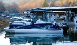 2018 jc tritoon neptoon sport 23tt blue black suzuki 200 for sale - 3