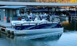 2018 jc tritoon neptoon sport 23tt blue black suzuki 200 for sale - 5
