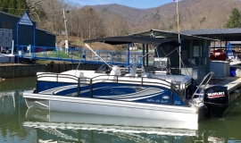 2019 JC Tritoon neptoon sport 23tt blue for sale - 3