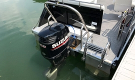 2017 JC tritoon ns23 suzuki 150 black for sale - 13