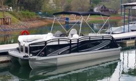 2017 22' Sport Pontoon Rental Boat Suzuki 140 - 1