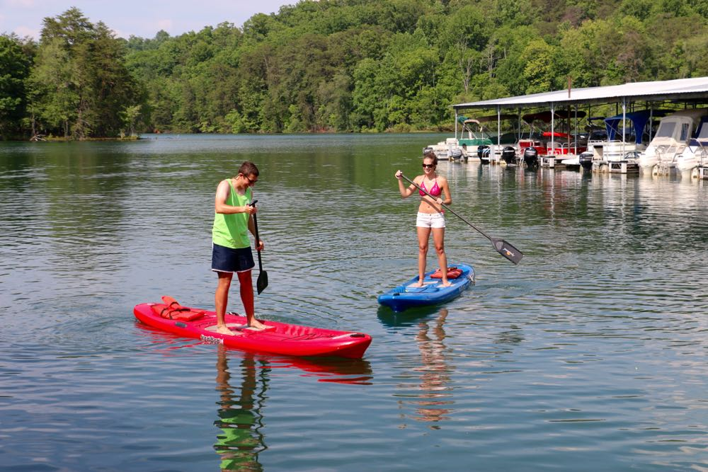 SUPs paddleboards and canoes