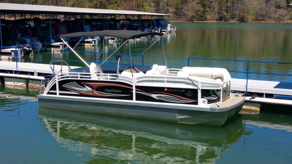 2015 Sport Pontoon boat rental Black