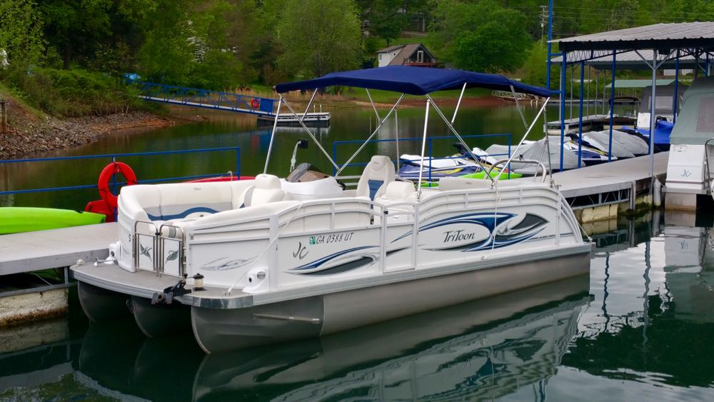 2016 jc tritoon neptoon 21 Rental boat for sale Suzuki 140 white - 1