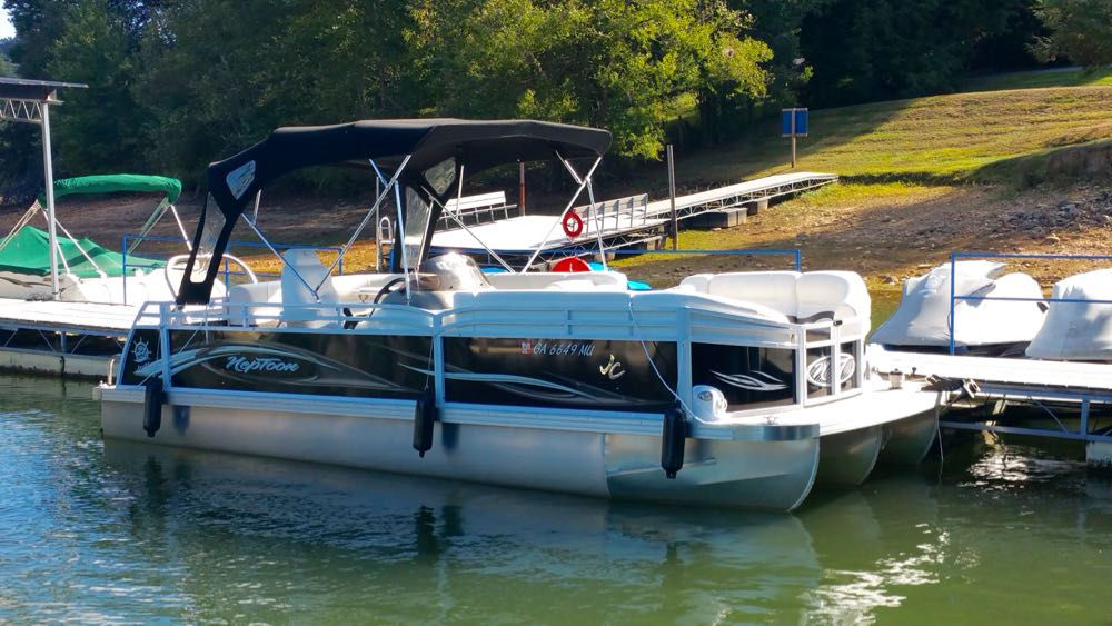 2012 JC NepToon 21 TriToon for sale Honda 90