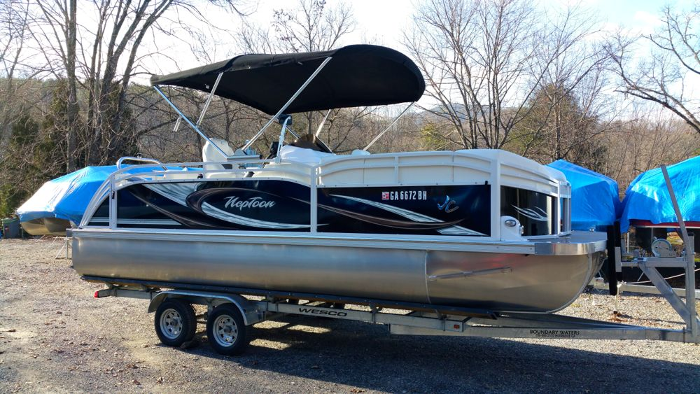 2013 JC TriToon 21 NepToon Sport Suzuki 175 for sale