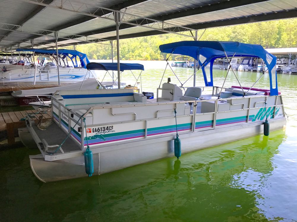 1995 JC dolphin pontoon for sale