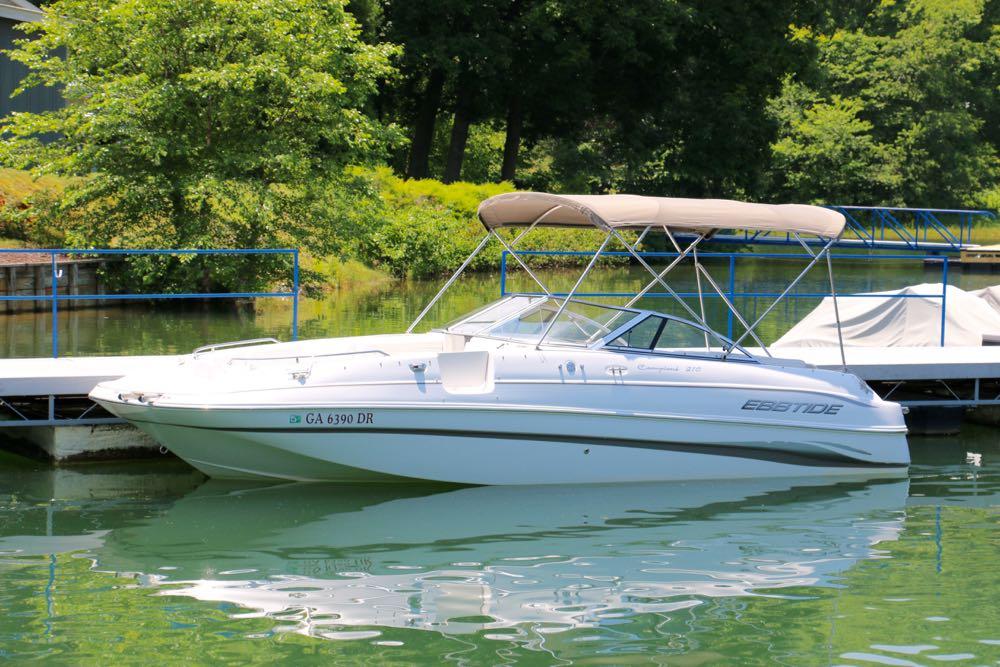 ski boat ebbtide 2003 210 dc deck boat for sale
