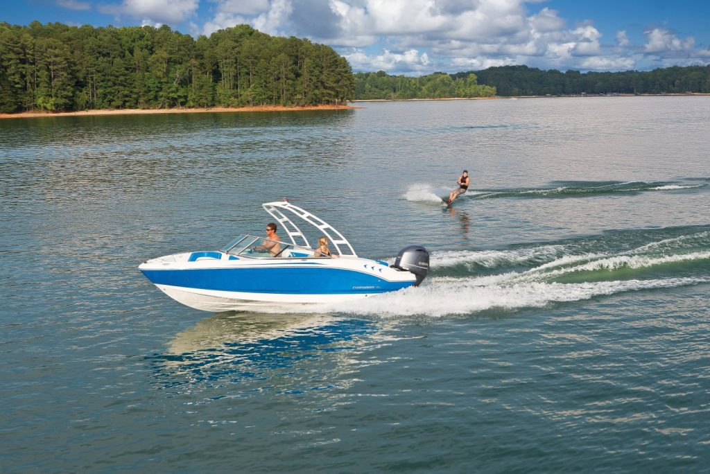 wakeboard fun with premium ski boat rental on Lake Chatuge