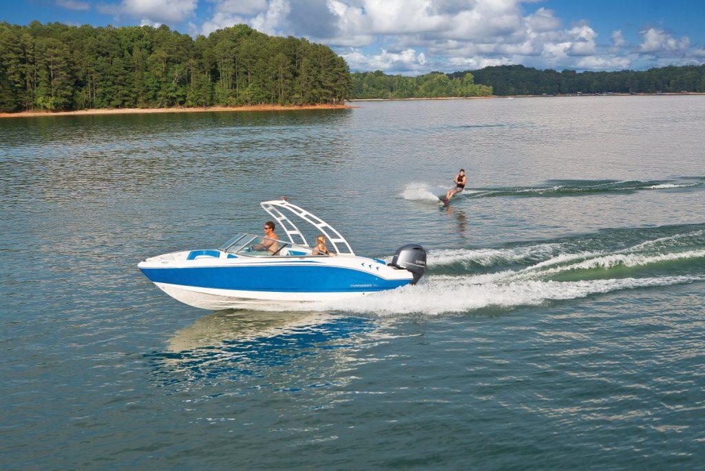 wakeboard fun with premium ski boat rental on Lake Chatuge